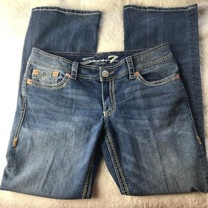 Seven7 Bootcut Distressed Jeans Size 12